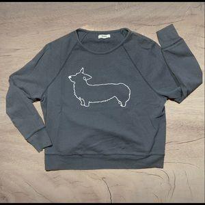 Madewell 1937 wiener dog crew neck sweater small